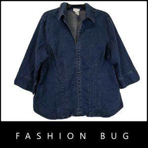 Fashion Bug Women's Soft Denim Jacket Size 18 / 20